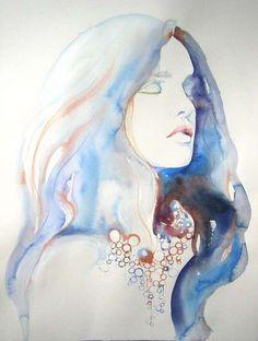 Sensual Watercolor Illustrations : watercolor fashion illustrations