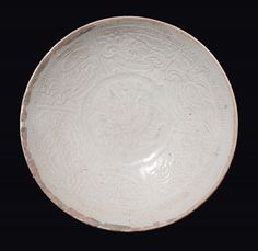 An ivory-splashed Qingbai dish, China, Song Dynasty (960-1279).