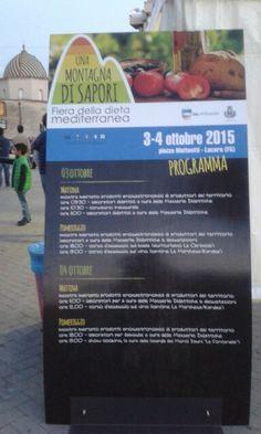 Fiera della Dieta Mediterranea. Lucera 3/4 Ottobre '15. I produttori della Rete insieme alle Masserie Didattiche.