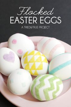 Decorating Easter Eggs with Flocking Powders - a fun and modern way to decorate eggs!