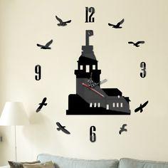 nástenné hodiny, wall mirror clock, spiegeltakt, zegar lustro