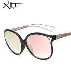 XIU Oversized Women Sunglasses Brand Designer Sun glasses Woman Fashion Glasses Retro Vintage 2017 New Top Quality