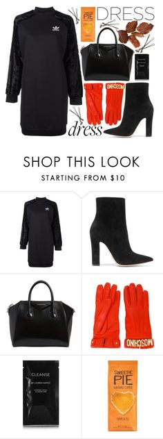 """""""Winter Dress"""" by katerin4e-d ❤ liked on Polyvore featuring adidas Originals, Gianvito Rossi, Givenchy, Moschino, Cleanse by Lauren Napier and BOBBY"""