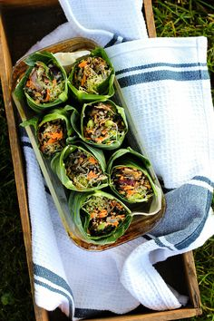 Collard Wraps with Wild Rice Salad + Orange Miso Tahini Dressing ⎮ happy hearted kitchen