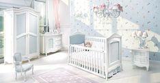 Beyaz Avangard Bebek Odası Modeli | Beyaz Beşik Modelleri