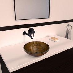 Vigo Textured Copper Glass Vessel Sink and Olus Antique Rubbed Bronze Wall-mount Faucet Set - Overstock™ Shopping - Big Discounts on Vigo Sink & Faucet Sets