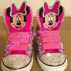 Custom Made to Order OOAK Toddler Bling Converse Chuck Taylor Chucks  Allstar High tops with Swarovski and Pearl Embellishment by GlitzNPearlsDesigns on Etsy