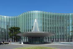 The National Art Center, Tokyo (国立新美術館  is a museum in Roppongi, Minato, Tokyo, Japan.  The architect for the museum was Kisho Kurokawa