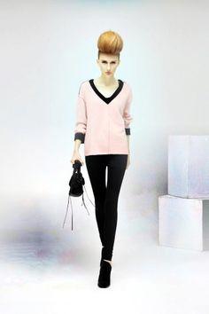 v neck pullover knitted slim Sweaters - v neck sweater, v neck cashmere sweater