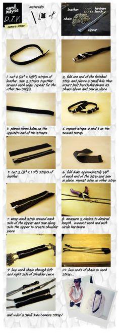 #DIY Zipper Camera Strap