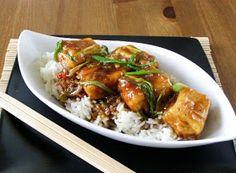 Crispy Fried Tofu in a Spicy Teriyaki Sauce