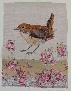 Sewing Machine Vintage Quilt Blocks New Ideas Embroidered Bird, Bird Embroidery, Free Motion Embroidery, Art Textile, Textile Artists, Fabric Birds, Fabric Art, Textiles, Bird Quilt