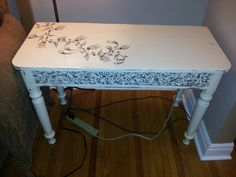 Foyer table after Vanity Bench, Foyer, Painted Furniture, Table, Projects, Painting, Home Decor, Log Projects, Homemade Home Decor