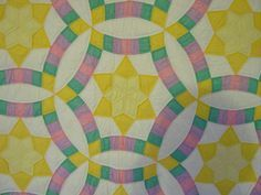 Golden Wedding Quilt - a double wedding ring variation (this is a vintage quilt)