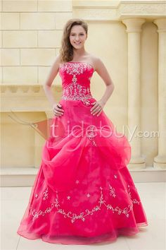 Beautiful A-line Ball Gown Strapless Ela's Prom/Ball Gown Dress