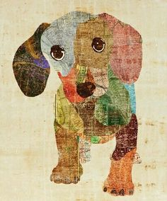 Maybe use colored tissue paper .The Long and Short of it All: A Dachshund Dog News Magazine: Shopping With Dachshunds For Dachshunds Arte Dachshund, Dachshund Love, Daschund, Dachshund Sweater, Dog Quilts, Animal Quilts, Quilting, Weenie Dogs, Doggies