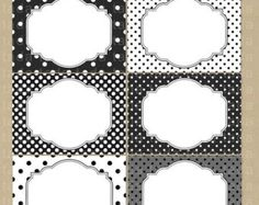 1/2 PRICE Printable Labels/Cards for journaling, scrapbooking, gift giving, mailing - Black and White Dots