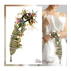 Designed by Fabio Reyes (from Chile). unusual wedding bouquet #unique #wedding #bouquet
