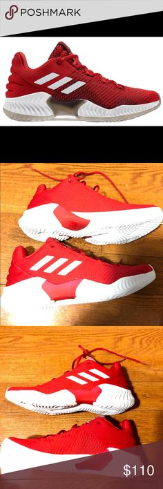 official photos d0513 ba243 ADIDAS PRO BOUNCE 2018 LOW SIZE 9 RED 🔹AUTHENTIC 🔹NEW IN BOX 🔹NO