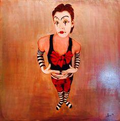 Choisissez moi - 2015 - 80x80 cm - olio su tela  Pittore curioso Andrea Albonetti
