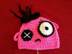 Pink Baby Zombie Crochet Hat www.facebook.com/EmmyJaneCreations