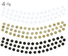 Verleihen Sie Ihrer nächsten Party mit Girlanden-Set Preppy Seahorse (4-tlg.) in Schwarz, Gold, Weiß eine persönliche Note. Ausgefallene Accessoires von DELIGHT DEPARTMENT auf >> WestwingNow.