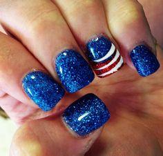 4th of July | Memorial Day Nail Art Design