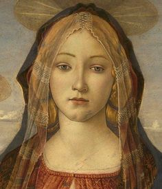 Botticelli, Virgin and Child with St John and an Angel (detail), c 1490