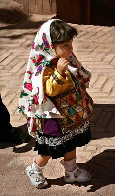 Little Girl in Iranian Folkloric dress of Abyaneh. Adorable!