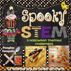 This Halloween STEM package is perfect to engage your little engineers in October! Three STEM challenges are provided and can be completed as stations or in isolation.STEM Challenges are designed to be completed in partners or small groups and include instructions and student recording forms for the following 3 activities:*Pumpkin Catapults*Candy Towers*Spider Web BridgesINTERESTED IN STEM FOR THE ENTIRE YEAR?!!