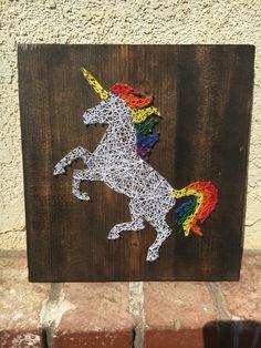 Unicorn String Art by SignsAndSuchCrafts on Etsy