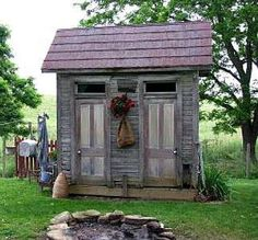 double his and hers outhouse