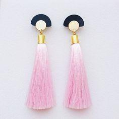 Image of GLORIA TASSELSEarringsPastel Pink