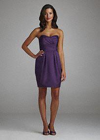 Strapless Short Dress with Egg Shaped Skirt