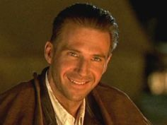 "Ralph Fiennes as ""Count Laszlo de Almásy"" in ""The English Patient"" The English Patient, Lead Men, Ralph Fiennes, Smiling Man, Great Movies, His Eyes, Gorgeous Men, Movies And Tv Shows, Movie Stars"