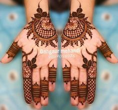 Gorgeous Eid Al-Adha Mehndi Designs 2019 - Kosmetik Nageldesign - Henna Designs Hand Easy Mehndi Designs, Henna Hand Designs, Dulhan Mehndi Designs, Mehendi, Latest Mehndi Designs, Bridal Mehndi Designs, Round Mehndi Design, Mehndi Designs Finger, Mehndi Designs For Girls