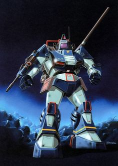 The Combat Armor Dougram from the anime Fang of the Sun Dougram. This was copied and used in both BattleTech and MechWarrior as the Shadowhawk. (Photo credit: Sunrise)