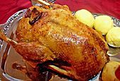 Ente - Roast duck - a traditional German meal for Christmas in many families