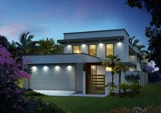 Modern house front elevation Archives - Page 151 of 227 - Cozy home interior ideas Ranch Home Designs, Custom Home Designs, Custom Homes, House Plan With Loft, House With Balcony, Cabin House Plans, Modern House Plans, Kerala House Design, Small House Design