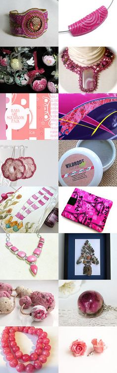A pink day by SandyCasp on Etsy--Pinned with TreasuryPin.com #pinkgiftguide