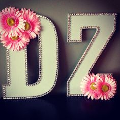 DIY dz letters I made for my little