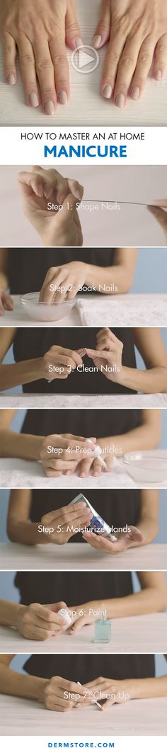 How to manicure hand at home