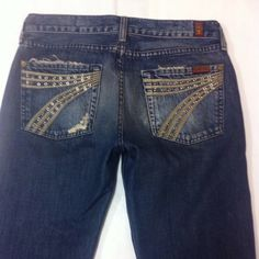 """7 for all Mankind jeans """"Dojo"""" Great condition. Inseam is 33. 7 for all Mankind Jeans Flare & Wide Leg"""