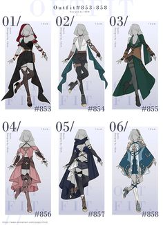 Clothing Sketches, Dress Sketches, Draw Your Oc, Drawing Anime Clothes, Hero Costumes, Cosplay, Fashion Design Sketches, Kawaii Clothes, Anime Outfits