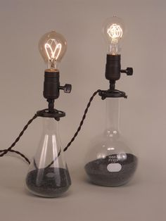 several lamp diy ideas! [Vintage Industrial Objects Repurposed into Lighting]