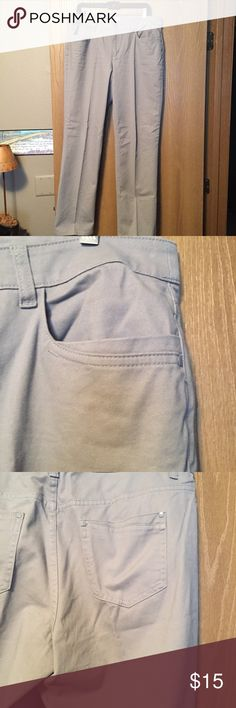 NWOT Tan khakis front and back pockets. Perfect condition. Cotton and spandex. 18 in across waist front, 10 1/2 in rise, 31 in inseam, 8 in leg opening. Christopher & Banks Pants Trousers