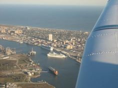 Galveston Port-TEXAS  Looks like this was taken from an airplane or cruise ship.