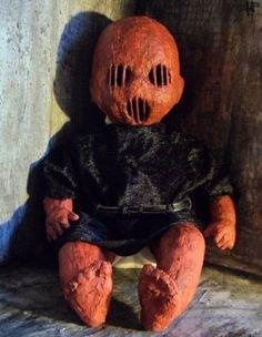 OOAK-Horror-Halloween-Prop-Demon-Devil-Skinned-Doll Freak Show Halloween, Devil Halloween, Halloween Doll, Holidays Halloween, Halloween Crafts, Happy Halloween, Halloween Decorations, Creepy Baby Dolls, Creepy Kids