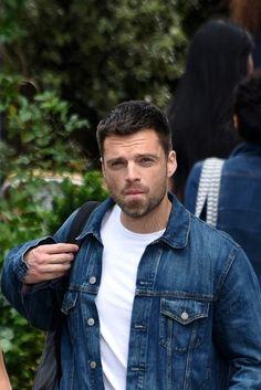 Sebastian Stan, Bucky Barnes Aesthetic, Steel Blue Eyes, Dc Movies, Man Thing Marvel, Marvel Actors, Daddy Issues, Winter Soldier, Chris Evans