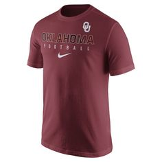 Nike Practice (Oklahoma) Men's T-Shirt Size Small - Clearance Sale